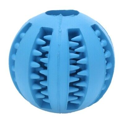 Puppy Durable Rubber Ball Pet Dog Chew Teething Dental Healthy Treat Clean Toy