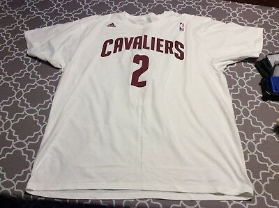 Nba Cleveland Cavaliers Kyrie Irving White Shirt Adidas Mens Size 2Xl