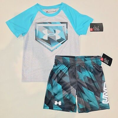 Boys size 4 4t Under Armour Shirt Shorts Set Outfit Athletic Clothes Nwt