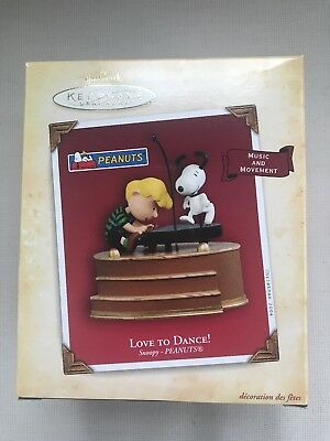 Hallmark Love to Dance Snoopy Schroeder Christmas Ornament 2004 NEW
