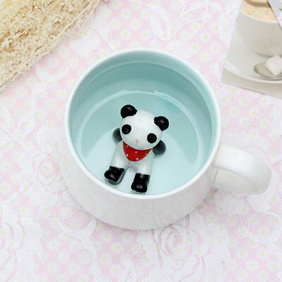 Lovely Animal-Shape Ceramics Mug Cup Innovative Cartoon Cup Without Cover ZX