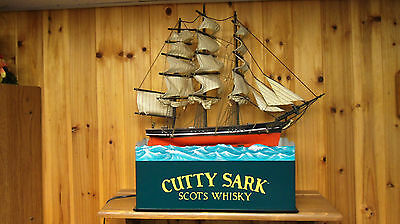 Cutty Sark Sailing Ship Scots Wisky Display - Display lights up