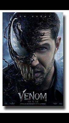Venom Original Movie Poster Double Sided 27x40 Featuring Tom Hardy