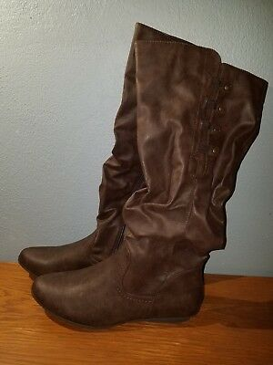 b6b66c267e1 NEW! WOMENS MOUNTAIN Sole Frida Slouch Boots Black Size 9.5 - $18.69 ...