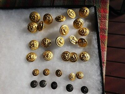 30 Misc  Wwii Navy Uniform  Buttons 3 Different Sizes