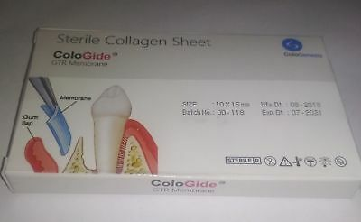 DENTAL COLO GIDE STERILE COLLAGEN SHEET GTR MEMBRANE 10 X 15 mm FREE SHIPING