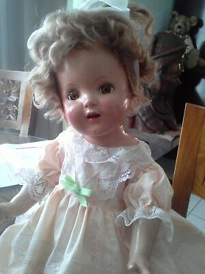 VINTAGE BEAUTY OF A DOLL, SERENE LOOK ON HER FACE a CUTIE STRAWBERRY BLONDE