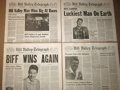 Back to the Future - Full Set of 13 Hill Valley Telegraph Newspapers + Extras