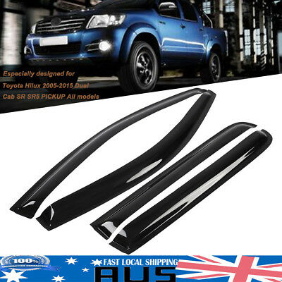 Premium Weather Shields Weathershields Window Visor For Toyota Hilux Dual Cab AU