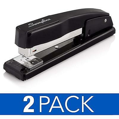 Commercial Desktop Staplers, 20 Sheet Capacity, Black, 2 Pack