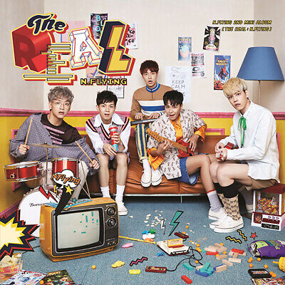 N.FLYING [THE REAL:N.FLYING] 2nd Mini Album CD+Photo Book+2p Card K-POP  SEALED