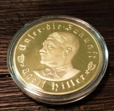 WW2 WWII German Miltary Leader Coin War Germany Collection Collector Gold