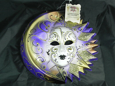 MASCHERA DEL GALEONE VENETIAN MOON & FACE MASK, Italy, Hanging Ornament w/ Tag