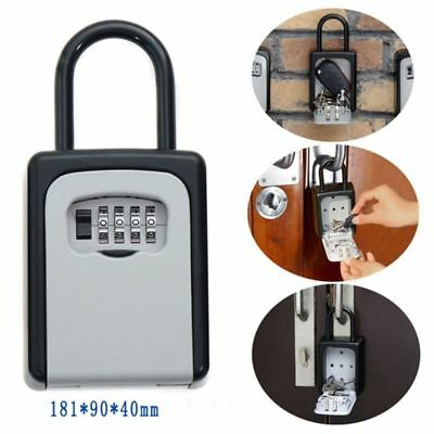 HOT 4-Digit Combination Lock Key Safe Storage Box Padlock Security Home Outdoor
