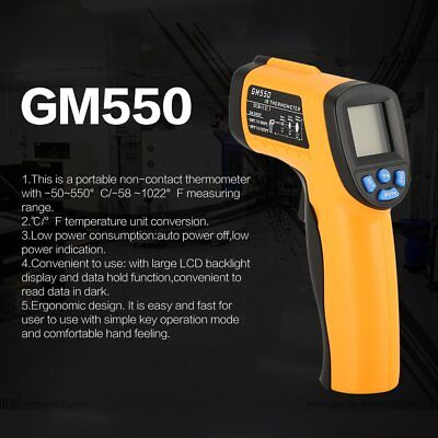 GM550 Digital Handheld LCD Infrared Thermometer Temperature Gun Non Contact WS