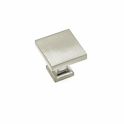 Brushed Nickel Cabinet Knobs Kitchen Drawer Knobs Pulls Cupboard Handles Square