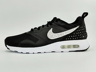 650824757b12a2 NIKE AIR MAX Tavas Black Mesh Synthetic Leather Women s Shoes Size 5 ...