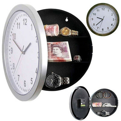 Secret Wall Clock Home Safe Valuables Money Jewelry Watch Conceal Storage Box
