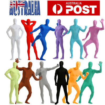 Morph Adult Men Women Spandex Costume Full Body Suit Zentai Morph Invisible