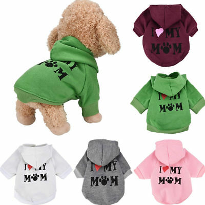 Small Pet Hoodie Coat Dog Jacket Winter Clothes Puppy Sweater Clothing Apparel