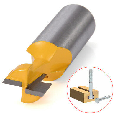 1/2'' T-Slot Cutter 1/2'' Straight Shank Handle Milling Woodworking Router Bit