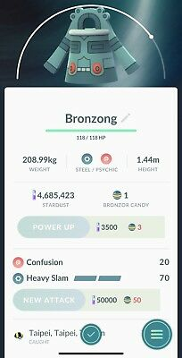 Pokemon Go Trade Bronzong (Read Description)