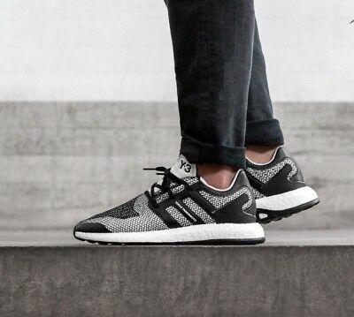 626bbc161 ADIDAS Y3 PUREBOOST Pure Boost ZG Knit Triple Crystal White UK 9 US ...