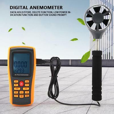 GM8902+ LCD Display Digital Anemometer Air Flow Wind Speed Volume Meter USB