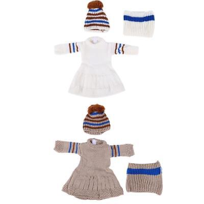 3pcs/set Hot Winter Doll Clothes Girl Doll Dress Fit for 18inch Dolls