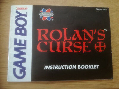 * Rolan's Curse * DGM-VE-USA - GB Game Boy original Anleitung - only Manual