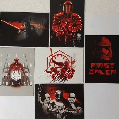 JOURNEY TO STAR WARS  THE LAST JEDI Trading Card set of 6  DARKNESS RISES 2017