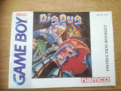 * Dig Dug * DGM-DY-USA - GB Game Boy original Anleitung - only Manual