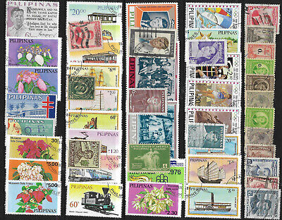 PHILIPPINES STAMP COLLECTION PACKET 50 DIFFERENT Mostly Used NICE SELECTION
