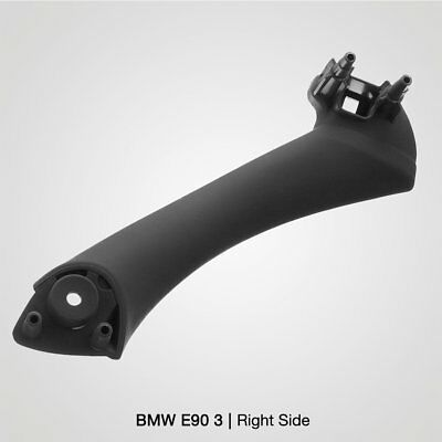 Black Right Inner Door Panel Handle Pull Trim Cover for BMW E90 3Series Sedan MU