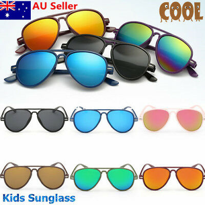 Stylish Child Kids Boys Girls Aviator Sunglasses Shades Baby Outddor Goggles New