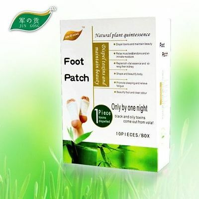 10 x ORIGINAL JUNGONG FOOT DETOX PADS PATCHES - these really work!