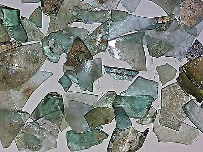 Lot Roman Glass Ancient Fragments Patina Caesarea Maritima  Israel 63g