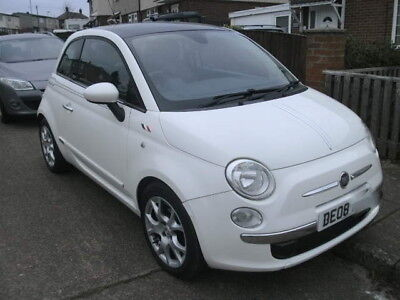 2008 FIAT 500 LOUNGE TOP SPECK 1.4 100 BHP 6 SPEED 51,000 full leather  ON V CAR