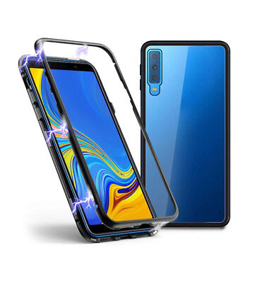 SDTEK Magnetic Case for Samsung Galaxy A7 (2018) Glass Back Cover