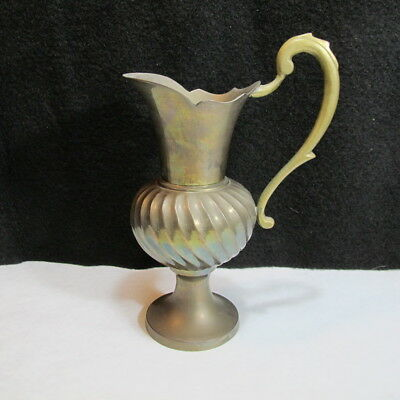 Beautiful Vintage Victorian Style Unique Brass Decorative Pitcher Great PATINA
