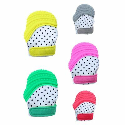 Baby Teether Gloves Safe Silicone Teething Mitts Infant Teether Gloves WY