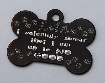 Harry Potter Dog Tag I Solemnly Swear I Am Up To No Good Personalised Dog Id Tag