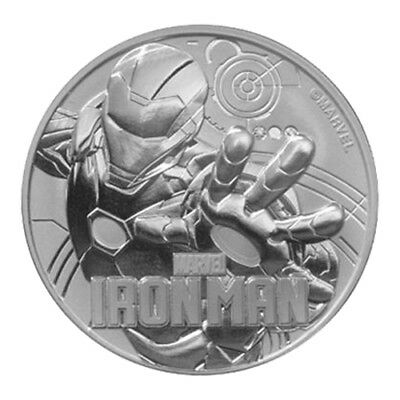 The Perth Mint 1 OZ Silber Silver Münze 2018 Marvel Iron Man Ironman 1 Unze