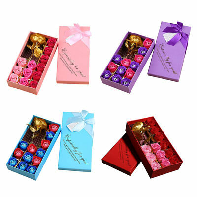 Gold Plated Scented Soap Valentine's Day Mother Rose Rose Anniversary Gift Box