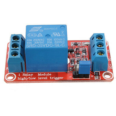 5Pcs 5V 1-Channel H/L Trigger Optocoupler Relay Module For Arduino