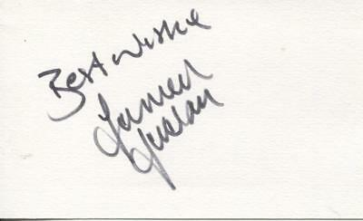 A 14cm x 9cm Plain White Card Signed by Darren Jackson of Celtic, Coventry City.