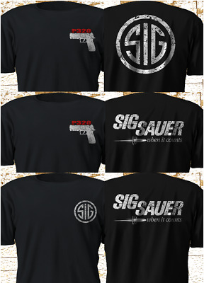 New SIG SAUER P320 Firearms Pistol Black hk heckler and koch T-Shirt S-4XL