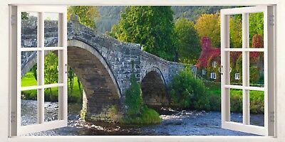 Snowdonia Wales Cottage Welsh 3D Effect Window Canvas Picture Wall Art Prints