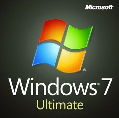 Microsoft Windows 7 Ultimate 32 / 64bit inkl. SP1 deutsch Vollversion. 1PC