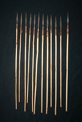 12 Old African Tribal Arrows , Congo